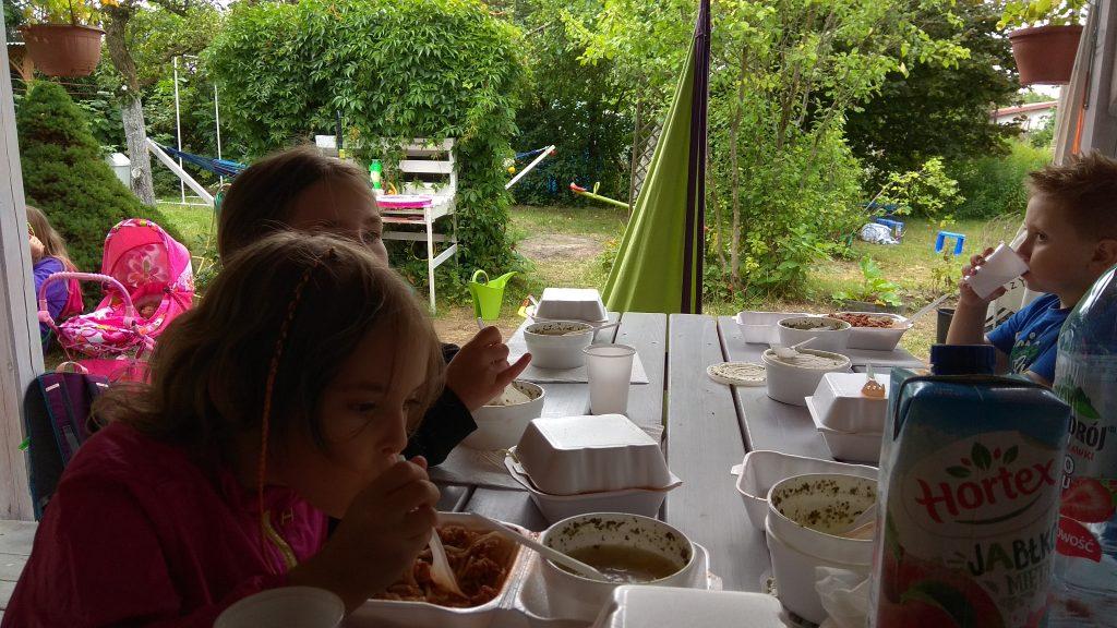 obiad na działce